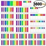 SIQUK 3600 Stück Haftstreifen Seitenmarker Farbige Sticky Tabs Seite Marker