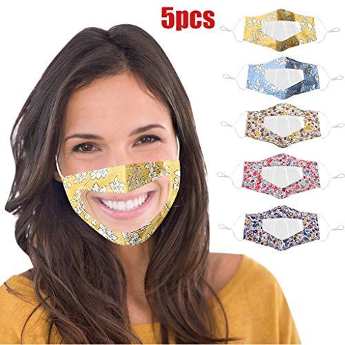 Generic JIekyoi 5pcs Transparente Offene Gesichtsschutz, Half Face Visier Plastic Klarer Gesichtsschutz Elastisch Komfortabel Tragender Mundschutz, Wiederverwendbarer Sicherheitsgesichtsschutz