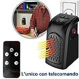 Dobo® Mini Estufa portátil de casa Ventilador toma eléctrica ajustable Distancia 400W Calefactor de 15a 32° bajo consumo baño casa oficina