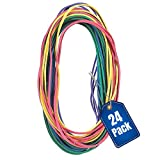 1InTheOffice Large Big Rubber Bands, 24/Pack