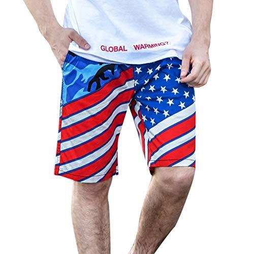 Gusspower- Herren Badeshorts Badehose in Vielen Farben  USA-Flagge  Bermuda Shorts  Schwimmhose  Badehosen  Badehose für Männer in den Größen YF19
