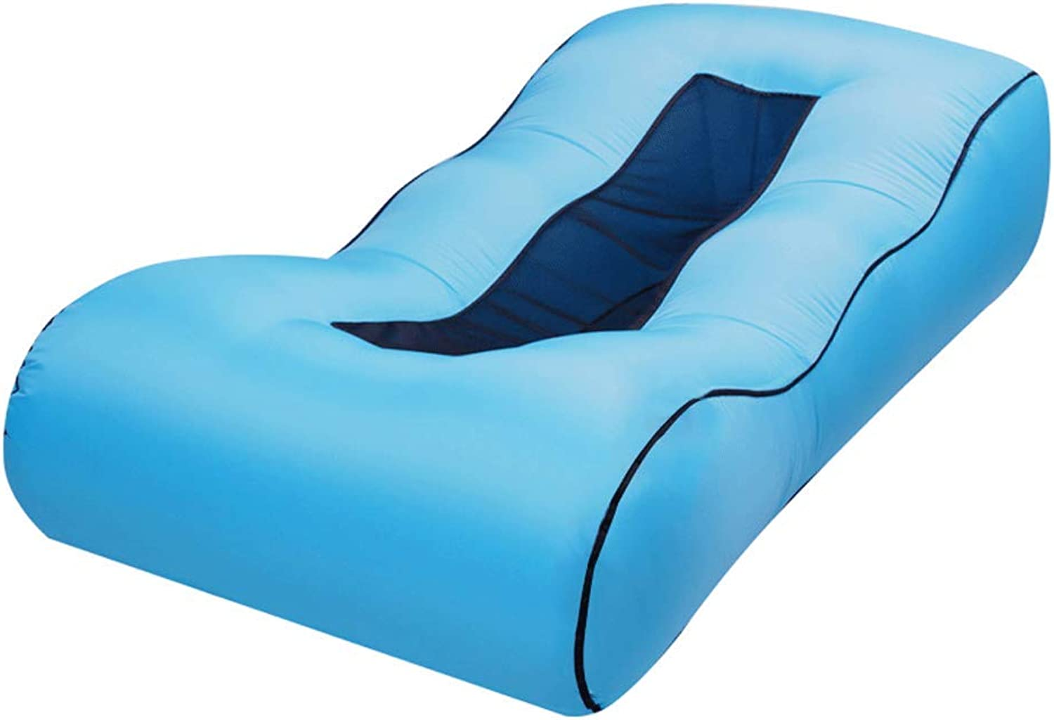 DYV Outdoor Fold Inflatable Air Sofa Portable Individual Camping Lounge Couch Chair Thick Durable Ideal Inflatable Couch for Pool and Beach Parties
