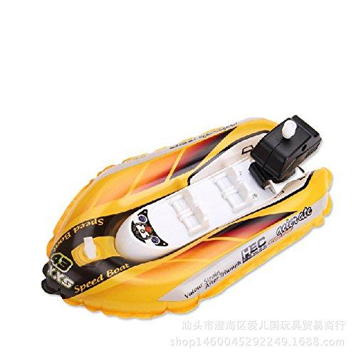 Redcolourful Simulieren Sie aufblasbares Uhrwerk-Rennboot-Kinderschwimmen, das Spielzeug für Badezimmer-Strand-Pool badet Yellow