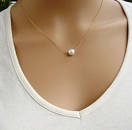 Tefamore donne finta perla bavaglino collana girocollo Statement