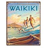 メタルサイン 「ワイキキ Surfside」 #1988 /ハワイアン/ブリキ看板/ビーチ/