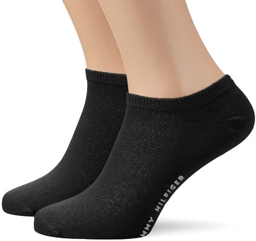 Tommy Hilfiger Herren Sneakersocken TH MEN SNEAKER 2P, Schwarz, 39/42 (39-42)