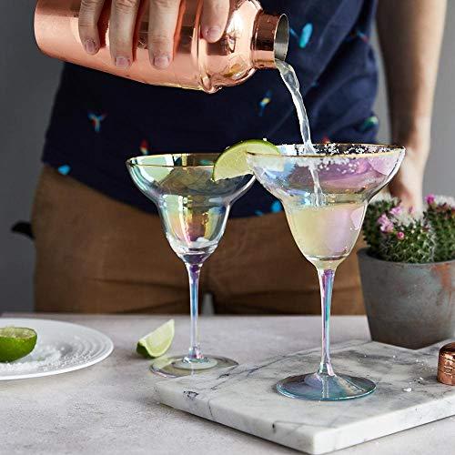 Root 7 g&Tea Rainbow Margarita Glasses Set of 2