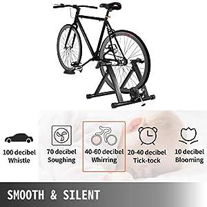 Tecmaqui Rodillos para Bicicleta 330LBS Entrenador para Bicicleta en Interior 750W Resistencia Fluida Soporte Portátil para Ejercicio de Bicicleta en Interior Rodillos con Fluido para Bicicletas