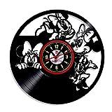 Meet Beauty Ding Schön Mickey Mouse Disney Anime Vinyl Record Reloj de Pared habitación de los Niños Creativos de Regalo para niño niña Halloween Navidad y cumpleaños