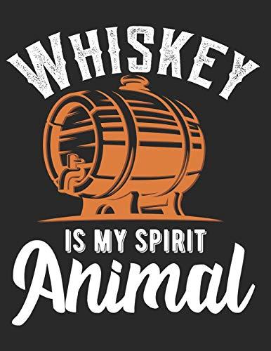 Whiskey Tasting Buch: Dein persönliches Verkostungsbuch zum selber ausfüllen ♦ für über 100 Whisky Sorten ♦ Großzügiges A4+ Format ♦ Motiv: Whiskey spirit animal - Fass
