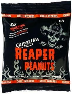 scharfe Chili-Snacks Carolina Reaper Chili Erdnüsse 80g