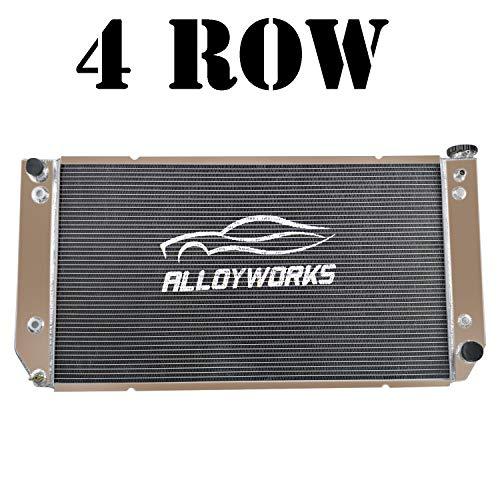 ALLOYWORKS 4 Row Full Aluminum Radiator For 1994-2000 Chevy GMC C/K 1500 2500 3500 Suburban Pickup 7.4L V8