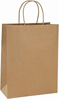 BagDream 10x5x13 25Pcs Brown Kraft Paper Bags with Handles Shopping Bags, Merchandise, Retail Bags, Party Bags, Gift Bags in Bulk, 100% Recycled Paper Gift Bags