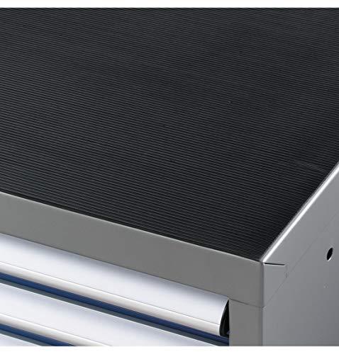 SSI Schäfer Riffelgummimatte Feinriefenmatte 102,3 x 72,5 cm passend zu Werkzeugschrank WSK, schwarz