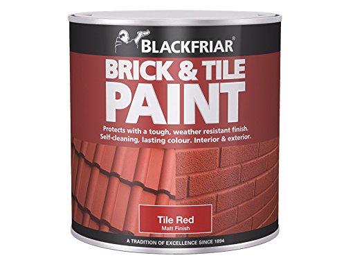 Blackfriar Bkfbtmr250250ml Peinture pour brique et carrelage–Rouge mat P, BKFBTMR500 0...