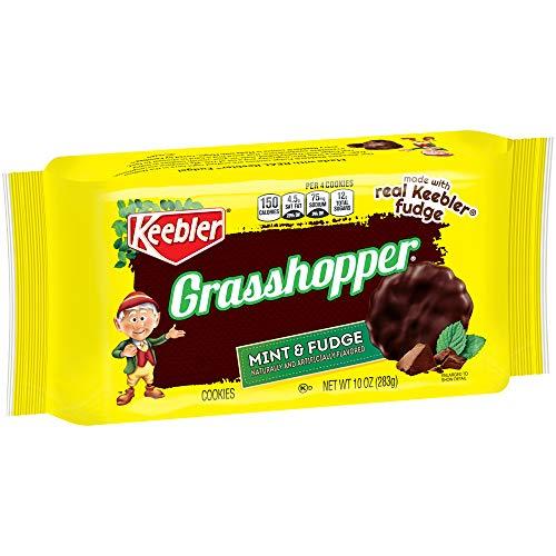 Keebler Fudge Shoppe Grasshopper Cookies, Mint & Fudge, 10 Ounce, Pack of 12