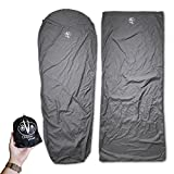 Outdoor Vitals Sleeping Bag Liner (Charcoal, Mummy/Micro Polyester)