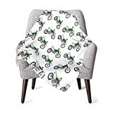 Baby Blanket Green Dirt Bike Upgraded Comfy Soft Newborn Blanket Thermal Breathable Receiving Blanket Skin-Friendly Swaddling Blankets Durable Toddler Sheets Thick Shower Gifts for Crib Outdoor