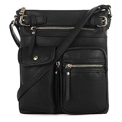 SG SUGU Lightweight Medium Crossbody Bag with Multi Pocket for Women