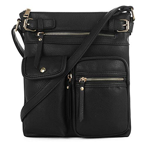 STYLISH & FUNCTIONAL: This stylish medium size crossbody purse features adjustable long shoulder strap with top zipper closures that can be worn many different ways. Front zipper pockets are both functional. Perfect for those sunny days when carrying...