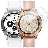 KIMILAR [3 Pcs] Pantalla Compatible con Samsung Galaxy Watch 4 Classic 42mm/Galaxy Watch 42mm/Galaxy Watch 3 41mm Protector Pantalla, Templado Vidrio Compatible con Galaxy Watch 42mm