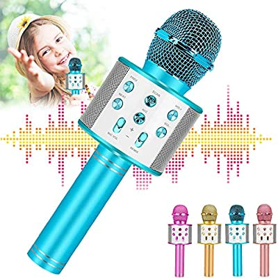 Newbrights Bluetooth Karaoke Microphone for Kids, Handheld Wireless Mic - Best Birthday for Boys Girls by Newbrights