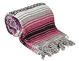 Roger Enterprises Authentic Mexican Falsa Blanket (Hot Pink)
