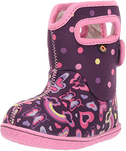 BOGS Girls Baby Rainbow Purple Washable Insulated WARM Wellies Boots 724651-4 UK 21 EU