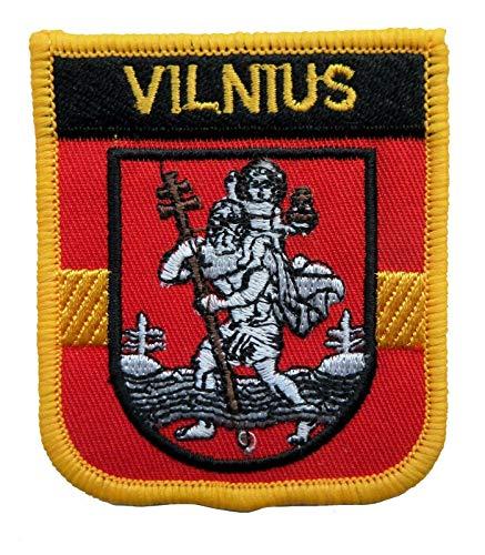 1000 Flaggen Vilnius Litauen Schild, bestickt