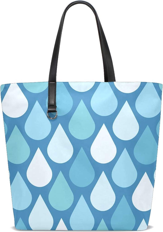 XiangHeFu Damen Handtaschen Wassertropfen Muster Polyester Stoff Stoff Stoff Schultertasche B07J3P95ND  Elegant natürlich f72f1f