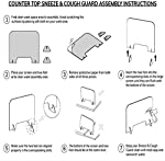 Pantalla Protección Mostrador,4MM Mampara Protectora de Metacrilato Transparente con Ventanillas y B... #6