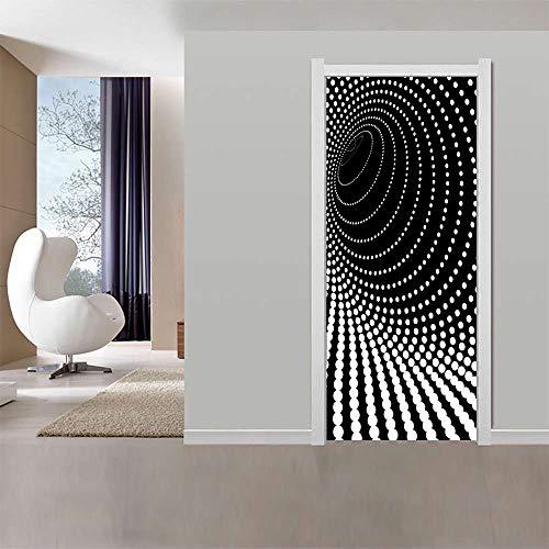 Deurbehang zelfklevend 77x200cm kleurrijke ideeën PVC fotobehang deurpaneel deurposter deursticker deur decoratie foto 77x200cm