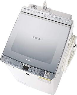 シャープ 洗濯機 洗濯乾燥機 ガラストップ 穴なし槽 インバーター プラズマクラスター 搭載 シルバー系 ESPX8D-S...