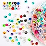 Smiley Face Beads,150pcs Happy Face Spacer Beads for DIY Bracelet Necklace Earrings Jewelry Making