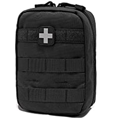 """★DIMENSIONS: 8""""H X 6""""W X 3""""D. NET WEIGHT: 1.2 LB. MATERIAL: Made of high quality 1000D Nylon durable anti-scraped and wear-resisting. EMT Pouch that contain tight, internal elastic straps and a spacious pocket for vital first aid supplies. ★INCLUDED:..."""