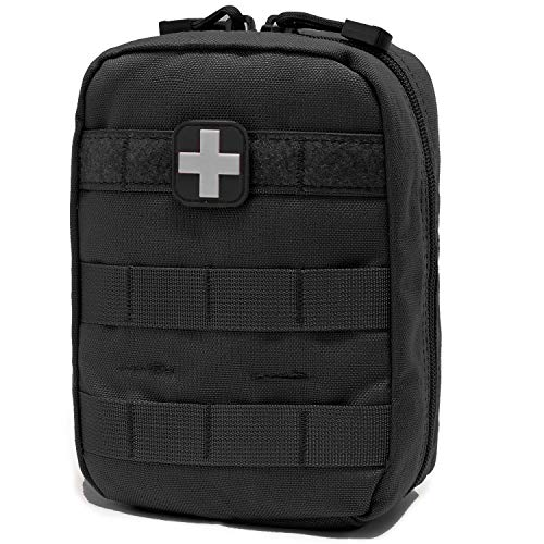 EMT Pouch MOLLE Ifak Pouch Tactical MOLLE Medical First Aid Kit Utility Pouch Carlebben (with Medical Supplies)