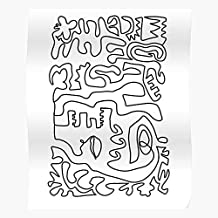 Dog Kelpie Fine Art Black Minimal Line Single El mejor y más nuevo póster para la sala de decoración del hogar de arte de pared