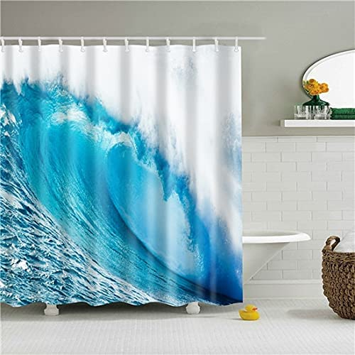 NDV18 Inventory cleanup selling sale STORE Sea Beach Wave Scenery Bathroom Printed Vacation 5 ☆ popular Sho