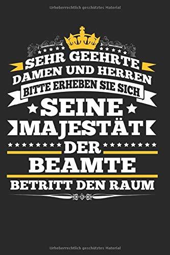 """Der Beamte Betritt Den Raum: Notizbuch Planer Tagebuch Schreibheft Notizblock - Geschenk für Mitarbeiter, Angestellte, Beamter Amt. Lustiger Spruch ... x 22.9 cm, 6\"""" x 9\"""", 120 Seiten Liniert )"""