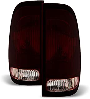 ACANII - For 1997-2003 Ford F150 99-07 F250 F350 SuperDuty Red Smoke Tail Lights Brake Lamps