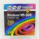 Maxell MF2HD 3.5 - Dischetti IBM preformattati ad alta densità, 1,44 MB, confezione da 10...