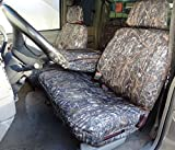 Durafit Seat Covers Compatible with.1995-2000 Chevy Silverado, Tahoe and GMC Sierra Front 60/40 Split Seat with Opening Center Console. Made in Conceal Camo Endura