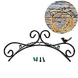 Soporte para manguera de jardín Soporte de manguera de jardín de hierro fundido de 13.8 'para montaje en pared decorativo