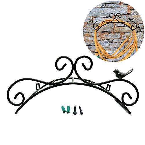 Fosinz Gartenschlauchhalter 13,8 Zoll Dekorative Wandhalterung aus Gusseisen für Gartenschläuche Schlauchhalter
