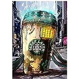 chtshjdtb Straße Graffiti Kunst Starbucks Kaffee Bilder
