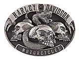 Harley-Davidson Men's Venom Belt Buckle, Antique Nickle Finish HDMBU11416