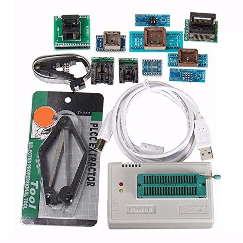 BliliDIY Tl866Ii USB Mini Pro Programmer con Adaptador 10Pcs Eeprom Flash 8051 Avr Mcu SPI Icsp