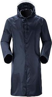 Yyl Rain poncho Waterproof Long rain jacket men women raincoat Reusable rain cape with drawstring hoods reflective stripes...