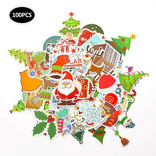 EKKONG 100 Stück Aufkleber Pack, 100 Anders Vinyl Christmas Sticker für Weihnachts, Wasserdicht Graffitti Decals für Auto Motorräder Fahrrad Skateboard Snowboard Gepäck Laptop Koffer Pad (100pcs)