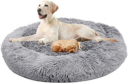 Cama Ortopédica Calmante para Perros, Cesta para Dormir, Piel Sintética Suave, Sofá para Mascotas para Perros Medianos y Grandes, Golden Retriever, Perro Alemán, Lavable